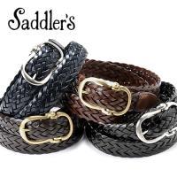 Saddler's サドラーズ Saddler's/ バタフライバックルレザーメッシュベルト「G106」(4 colors)