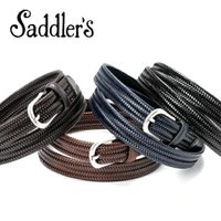 Saddler's サドラーズ Saddler's/ エラスティックレザーメッシュベルト「G300」(4 colors)