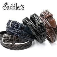 Saddler's サドラーズ Saddler's/ エラスティックレザーメッシュベルト「G306」(4 colors)