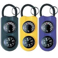 温度計とコンパスが一体型となった、小型軽量の携帯用サーモ&コンパス。 アクセサリー感覚でいつでも身に...