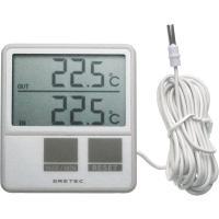 温度計O-215は外部測定用のセンサー付きで冷蔵庫に最適な温度計。本体部温度との外部センサーの2ケ所...