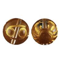 素 材:水晶サイズ:12mm玉蟹座(かに座)水晶金彫り12mm玉ビーズです。表に絵柄、裏にシンボルマ...