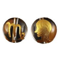 素 材:水晶サイズ:12mm玉乙女座(おとめ座)水晶金彫り12mm玉ビーズです。表に絵柄、裏にシンボ...