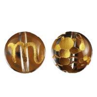 素 材:水晶サイズ:12mm玉蠍座(さそり座) 水晶金彫り12mm玉ビーズです。表に絵柄、裏にシンボ...