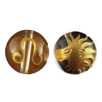 素 材:水晶サイズ:12mm玉獅子座(しし座)水晶金彫り12mm玉ビーズです。表に絵柄、裏にシンボル...