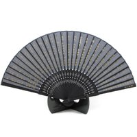 和柄 シルク扇子 般若心経シルク生地を使用した和の趣き漂う扇子。暑い夏、涼風でECOにも繋がる粋な心...