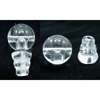 天然石水晶/のボサビーズセット(T字ホール)です。高級感のある数珠ができるはずです。成 分:水晶。サ...