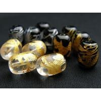 素 材:水晶、オニキスサイズ:一粒/約13×10mm穴径/約1.2mm四神筒型ビーズの4点セットです...