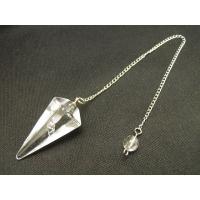 天然石 ペンデュラム 水晶(クリスタル) パワーストーン ダウジング ヒーリング カット型ペンデュラ...