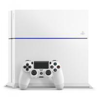 (中古)PS4 本体 Playstaytion4chu1100abグレイシャー・ホワイト  送料無料