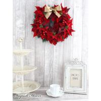 クリスマスリース 造花 クリスマス リース  壁掛け W-286