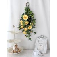 造花 リース アートフラワー  壁掛け シルクフラワー アレンジメント  W-365