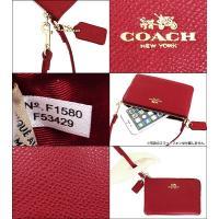 コーチ COACH 小物 ポーチ F53429 クラシックレッド ラグジュアリー クロスグレーン レザー コーナー ジップ リストレット アウトレット メンズ レディース