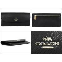 コーチ COACH 財布 長財布 F52689 ブラック ラグジュアリー クロスグレーン レザー ソフト ウォレット アウトレット レディース