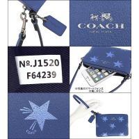 コーチ COACH 小物 ポーチ F64239 スレート スター キャニオン レザー コーナー ジップ リストレット アウトレット レディース