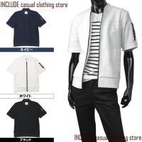 ミリタリーの定番MA1タイプの半袖Tジャケット。  左腕のシガレットポケットなどオシャレとアクティブ...