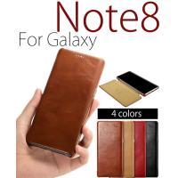 ○対応機種:Galaxy Note8(ギャラクシーノート8) ○素材:本革(牛革) ○カラー:ブラウ...