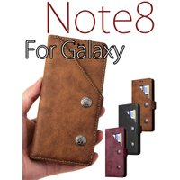 ○対応機種:Galaxy Note8(ギャラクシーノート8) ○素材:PUレザー+TPU ○カラー:...