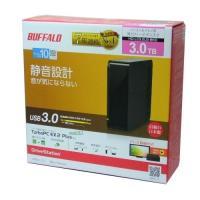 BUFFALO製 外付けHDD 3TB 型番:HD-LC3.0U3-BKD 静音設計 高速転送USB...