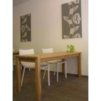 無垢材 リビング テーブル ダイニング カフェテーブル ナチュラルテイスト カントリー 北欧 大きな カフェ テーブル ナチュラル|instcompany
