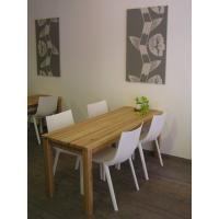 無垢材 リビング テーブル ダイニング カフェテーブル ナチュラルテイスト カントリー 北欧 大きな カフェ テーブル ナチュラル|instcompany|02