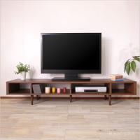販売終了 台 テレビボード センターテーブル ローボード 北欧 ミッドセンチュリー 国産 EZ AV180 ウォールナット|instcompany