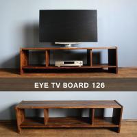 キャビネット 幅126cm ウォールナット 無垢 木製 テレビ台 eye_tv126|instcompany