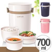 ご飯と汁物が保温できるスープ容器が付いた3段保温ランチボックスです。フタを外せば、保温ケース以外電子...