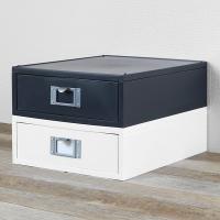 自分仕様に組み合わせできるシンプルな整理BOXシリーズです。A4クリアファイルを