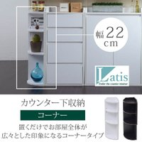 ■商品説明  組み換えにより左右どちらでも使用可能なラック。カウンター下使用時には、高さに合わせて2...
