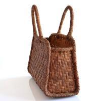 やまぶどう・カゴバッグ 幅34cm/網代編み木蝋仕上げ・ボストンタイプ