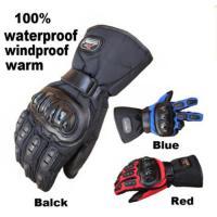 防水 防寒 オートバイ用グローブ  保温防風保護  暖かいロングタイプで、手首に調整ベルト付  素材...