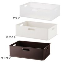 カラーボックス用収納ボックスです。 積み重ねもできて、使いやすさも抜群です! ●カラー:クリア ホワ...