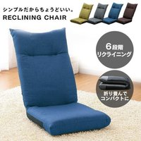 座椅子 おしゃれ リクライニング 6段階 シンプル モダン 角度調節 新生活 一人暮らし YC-601 (D)