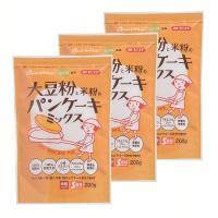 (3袋)みたけ食品 大豆粉と米粉のパンケーキミックス みたけ食品 (D)