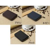 美しく洗練されたデザインを追求したシンプルなコンパクト財布  お客様のご要望により、小銭入れの幅を改...