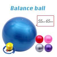 バランスボール 55cm 65cm 送料無料  フットポンプ付 ヨガボール ダイエット器具 RSL