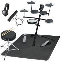 Vドラム TD-1KVに、演奏に必要なオプション、便利なアクセサリー、セッティング用のマットを揃えま...