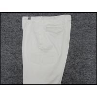 大きいサイズ のびのびコットンパンツ カーゴパンツ 通年 白 ストレートパンツ 97〜130cm
