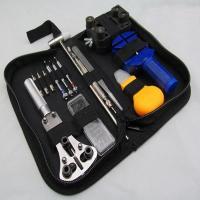 電池交換やベルト調整に便利な工具16点セット!!  片側が樹脂のステンレスハンマーや精密ドライバーが...