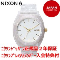 NIXON アクセサリー感覚で着用可能なTime Teller Acetate  White Gra...