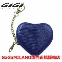 国内正規品 売れ筋 GaGa MILANO/ガガミラノ Men's Ladies/メンズ レディース コインケース HEART-SHAPED/ハートシェイプド NAVY/ネイビー 紺