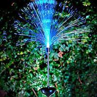 送料590円 庭 玄関先 ガーデンライト 照明 イルミネーション 飾り 芝生 装飾 照明 ソーラー LED 屋外 光ファイバー センサーで自動点灯
