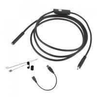 マイクロスコープ 内視鏡 6LED USB接続 エンドスコープ 7mm 2mケーズル android アンドロイドスマホ 対応 防水 LED ライト