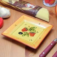 ポルトガル製 材質:陶器 サイズ:14.5X14.5cm 重量:約200g ちょっとした食事会に使う...