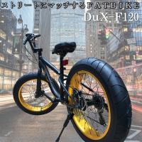 極太タイヤで悪路走破!!ファットバイク Wディスクブレーキ 3D立体フレーム
