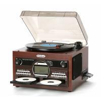 コンパクトながら簡単にCDに録音できるマルチプレーヤー!高音質スピーカー内臓! レコード/CD/カセ...