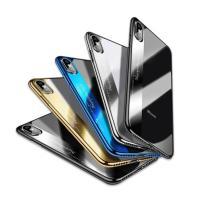 iPhone X ケース クリア TPU メッキ スリム 薄型 シンプル かっこいい アイフォンX ...