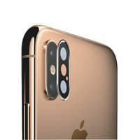 アイフォンXS用のカメラ保護フィルムよりも防御力の高い安心の硬度9Hの強化ガラスレンズカバー