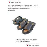 サンダル メンズ 日本製 本革 オフィスサンダル ビジネス牛革 オープントゥ スリッパ レザーサンダル